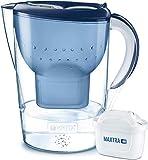 BRITA Wasserfilter Marella XL weiß inkl. 1 MAXTRA+ Filterkartusche – Großer BRITA Filter zur Reduzierung von Kalk