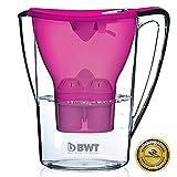 BWT - 815071 - Tischwasserfilter PENGUIN - 2,7 l, aubergine - Wasserfilterkanne mit 1 Filter-Kartusche für Magnesium Mineralized Water